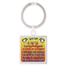 God-I Love This Place_pillow2 Square Keychain