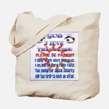 God-I Love This Place_pillow Tote Bag