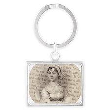 Jane Austen Portrait Landscape Keychain