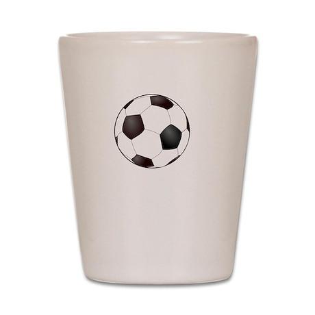 Soccer Smile White Shot Glass