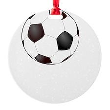 Soccer Smile White Ornament