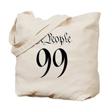 the_people_99_black_white outline Tote Bag