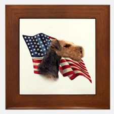 Airedale Terrier Flag Framed Tile