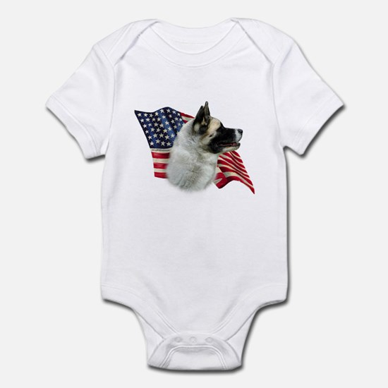 Akita Flag Infant Bodysuit