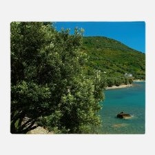 Albania, Vlora, Okrum bay Throw Blanket
