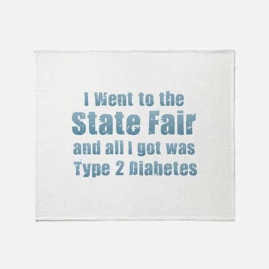 State Fair Type 2 Diabetes Throw Blanket