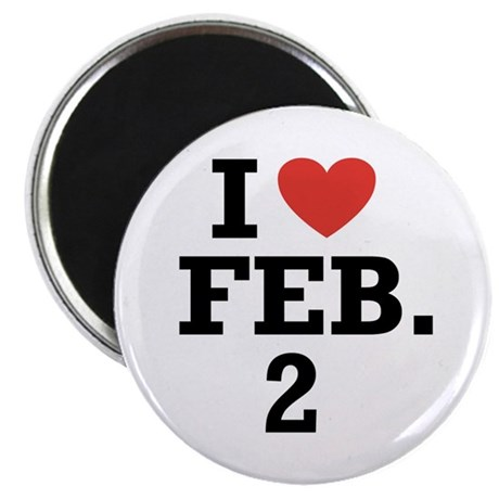 "I Heart February 2 2.25"" Magnet (100 pack)"