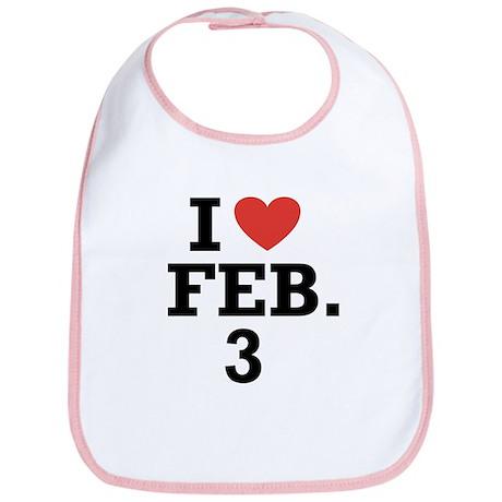 I Heart February 3 Bib