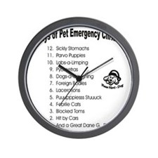 Pet ER Cropped Wall Clock