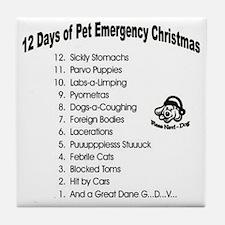 Pet ER Cropped Tile Coaster