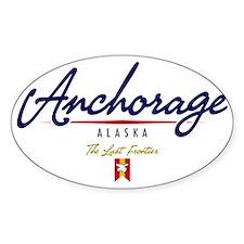 Anchorage Script W Bumper Stickers