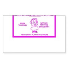 LITTLE AFGHAN GIRL Rectangle Decal