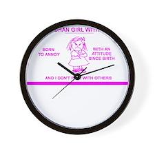 LITTLE AFGHAN GIRL Wall Clock