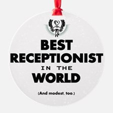 The Best in the World – Receptionist Ornament