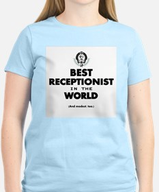 The Best in the World – Receptionist T-Shirt