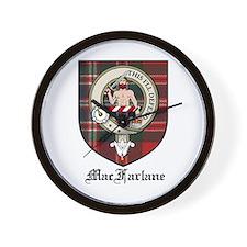 MacFarlane Clan Crest Tartan Wall Clock