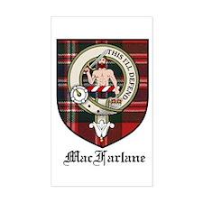 MacFarlane Clan Crest Tartan Rectangle Decal