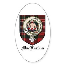 MacFarlane Clan Crest Tartan Oval Bumper Stickers