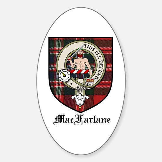MacFarlane Clan Crest Tartan Oval Decal