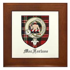 MacFarlane Clan Crest Tartan Framed Tile