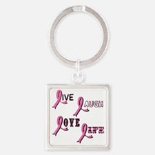 BREAST-CANCER-AWARENESS-2 Square Keychain