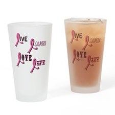 BREAST-CANCER-AWARENESS-2 Drinking Glass