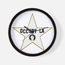 Occupy Los Angeles - Black Wall Clock