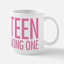 Simple Thirteen Point Freaking One Pink Mug