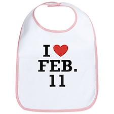 I Heart February 11 Bib
