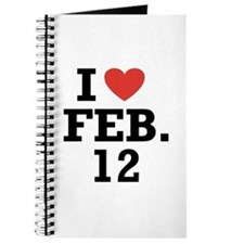 I Heart February 12 Journal