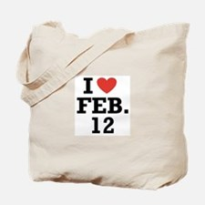 I Heart February 12 Tote Bag