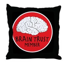 braintrust copy Throw Pillow