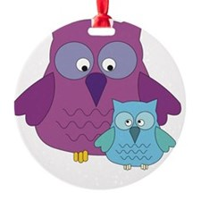Mother Owl and Baby Boy Ornament