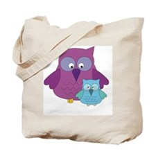 Mother Owl and Baby Boy Tote Bag