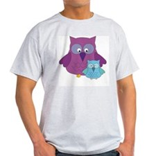 Mother Owl and Baby Boy T-Shirt