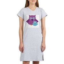 Mother Owl and Baby Boy Women's Nightshirt