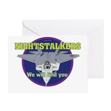 Mil 12 Night stalkers graphic copy Greeting Card