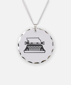 2000x2000oldtypewriter3clear Necklace