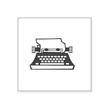 "2000x2000oldtypewriter3clea Square Sticker 3"" x 3"""