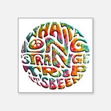 """long-strange-DKT Square Sticker 3"""" x 3"""""""
