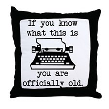 2000x2000oldtypewriter Throw Pillow