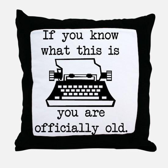 2000x2000oldtypewriter Throw Pillow
