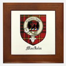 MacIain Clan Crest Tartan Framed Tile