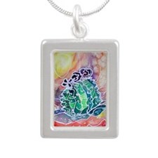 cactus22222 copy Silver Portrait Necklace