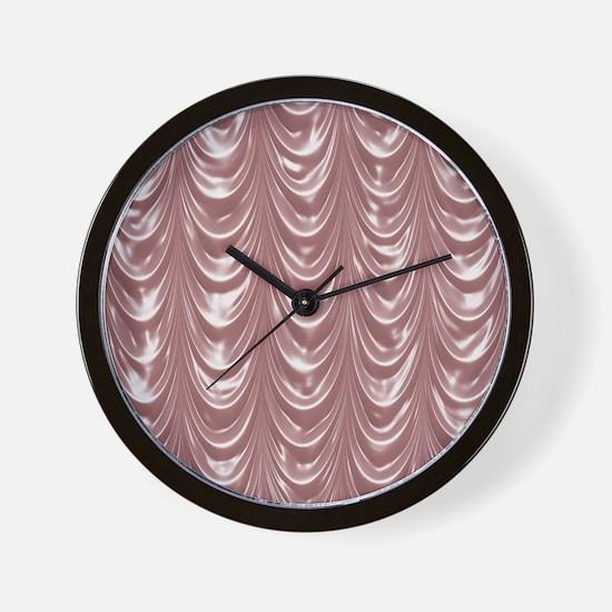 Curtain_pink_iPadCase Wall Clock