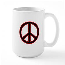 Red & Black Peace Mug