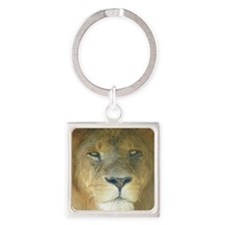 Lion square Square Keychain