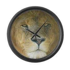Lion square Large Wall Clock