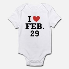 I Heart February 29 Infant Bodysuit