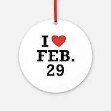 I Heart February 29 Ornament (Round)